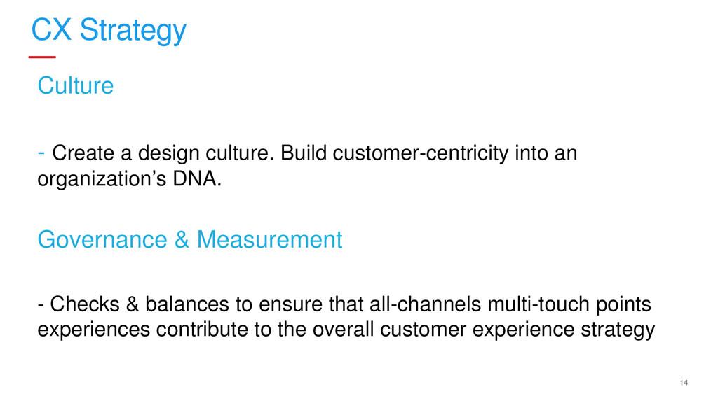 14 CX Strategy Culture - Create a design cultur...
