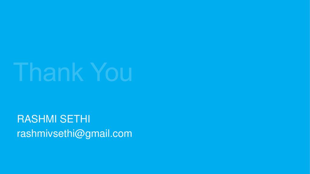 RASHMI SETHI rashmivsethi@gmail.com