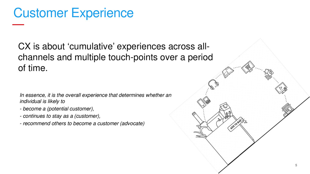 5 Customer Experience CX is about 'cumulative' ...