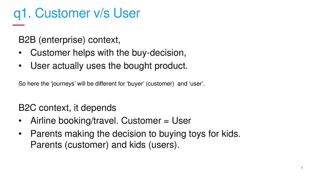 7 q1. Customer v/s User B2B (enterprise) contex...