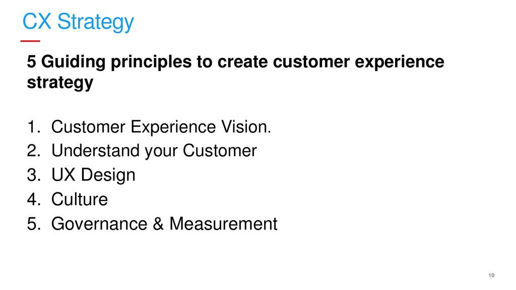 10 CX Strategy 5 Guiding principles to create c...
