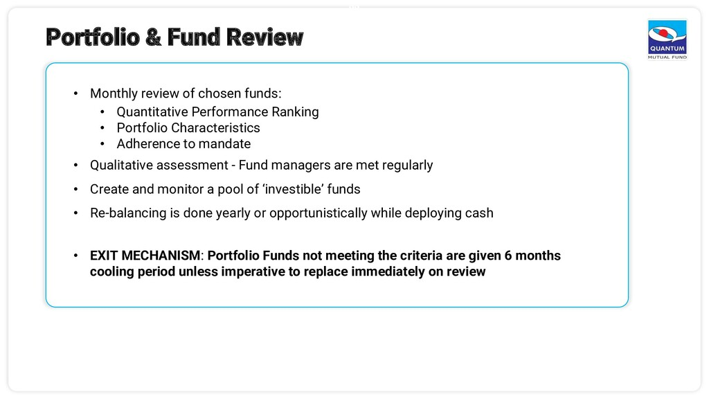 22 Portfolio & Fund Review • Monthly review of ...