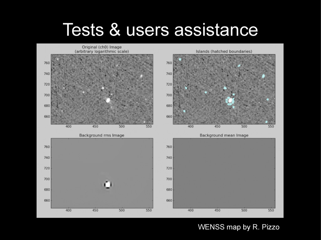 Tests & users assistance WENSS map by R. Pizzo