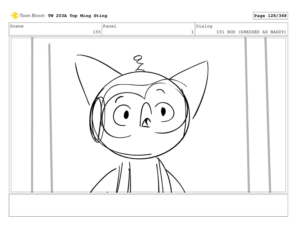 Scene 155 Panel 1 Dialog 101 ROD (DRESSED AS BA...