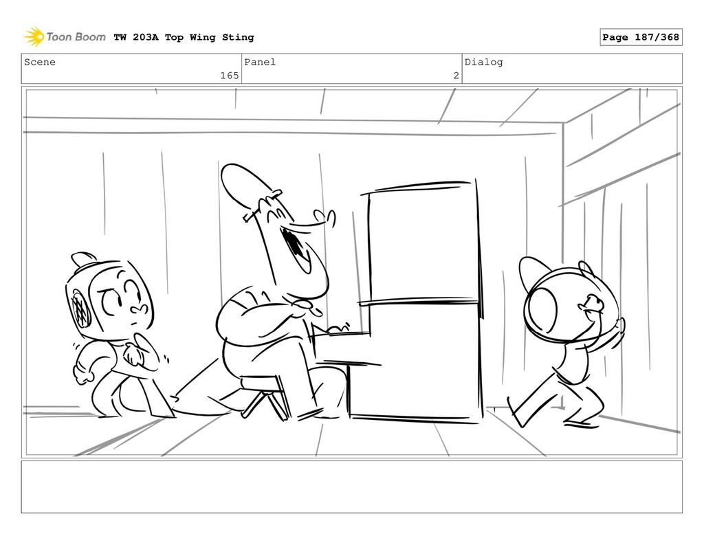 Scene 165 Panel 2 Dialog TW 203A Top Wing Sting...