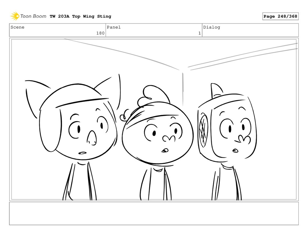 Scene 180 Panel 1 Dialog TW 203A Top Wing Sting...