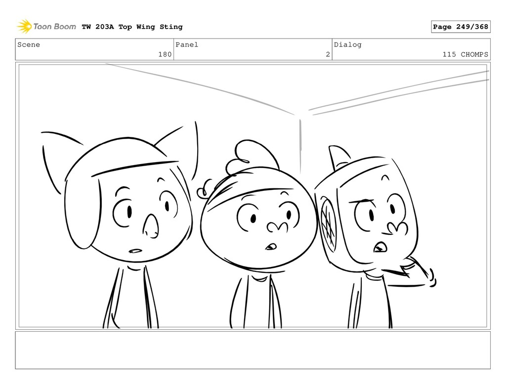 Scene 180 Panel 2 Dialog 115 CHOMPS TW 203A Top...