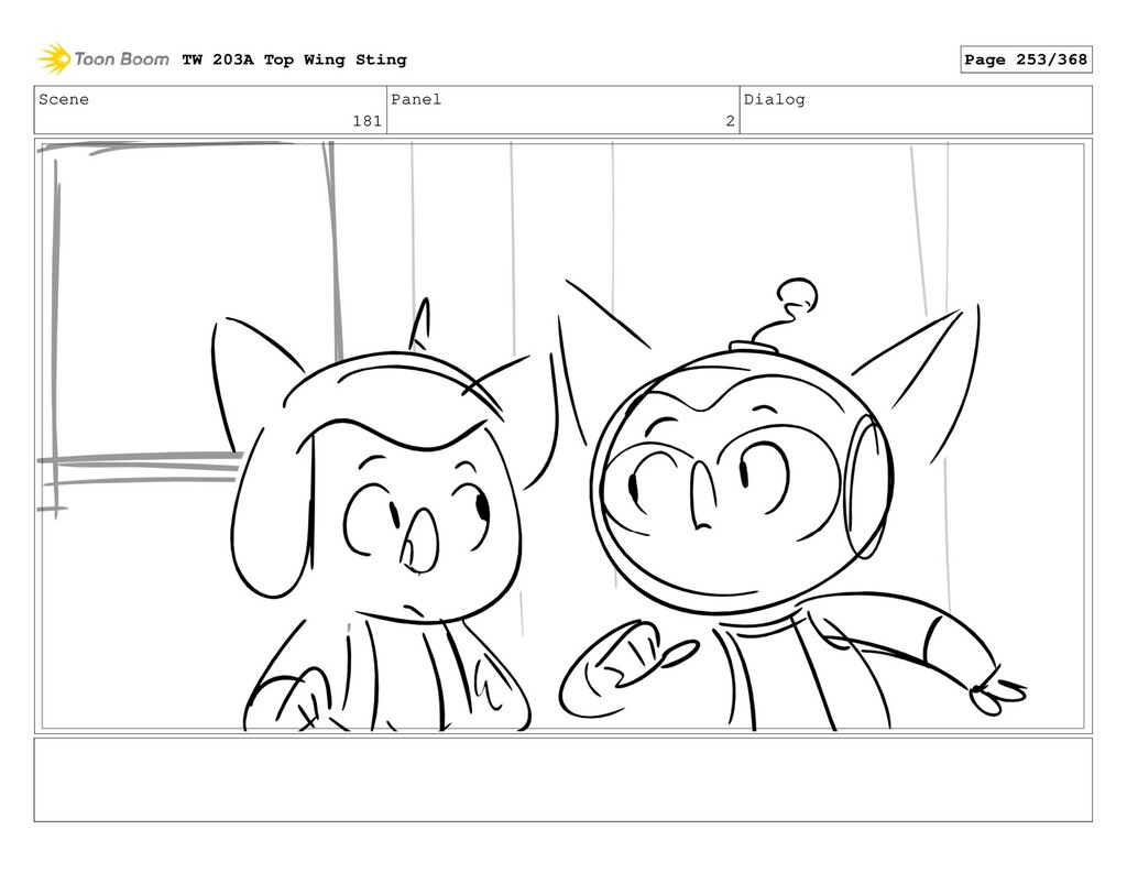 Scene 181 Panel 2 Dialog TW 203A Top Wing Sting...