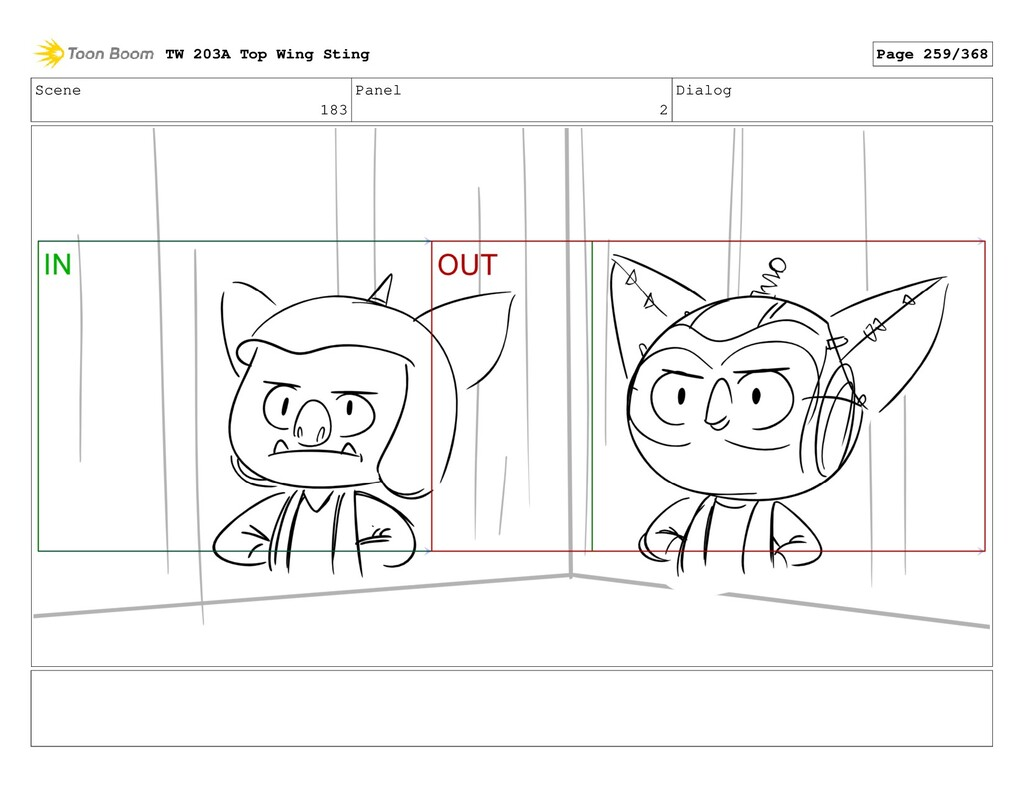 Scene 183 Panel 2 Dialog TW 203A Top Wing Sting...