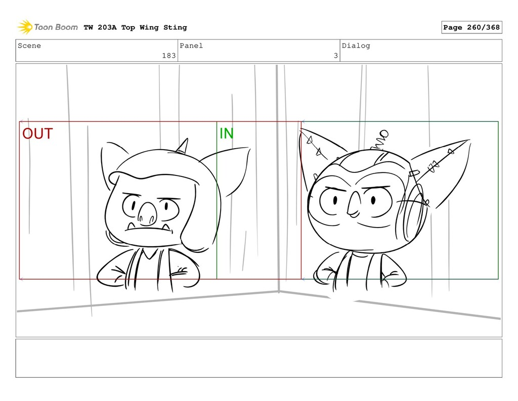 Scene 183 Panel 3 Dialog TW 203A Top Wing Sting...