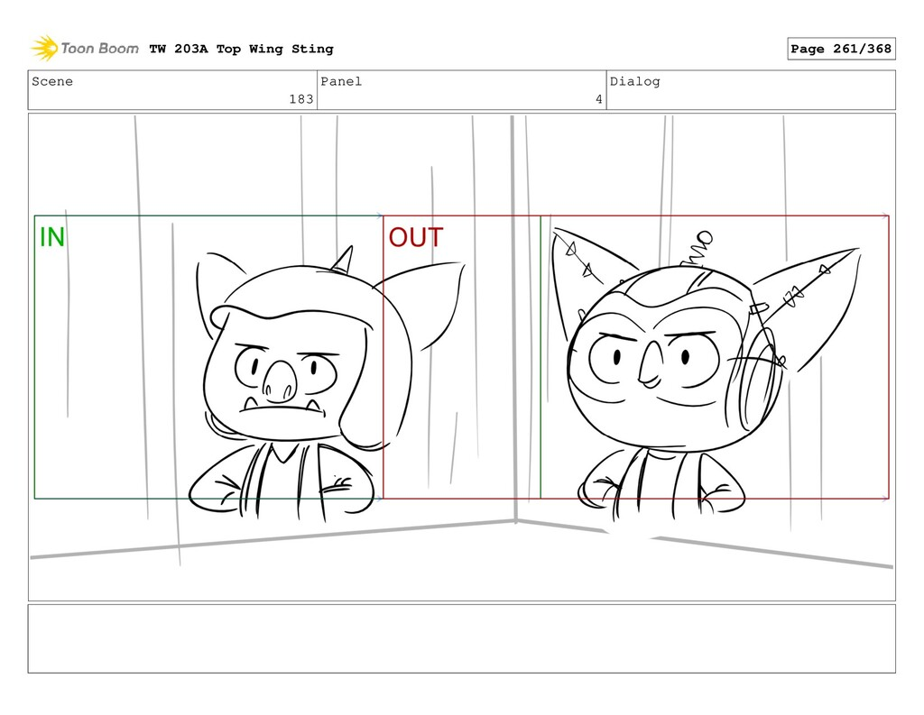 Scene 183 Panel 4 Dialog TW 203A Top Wing Sting...