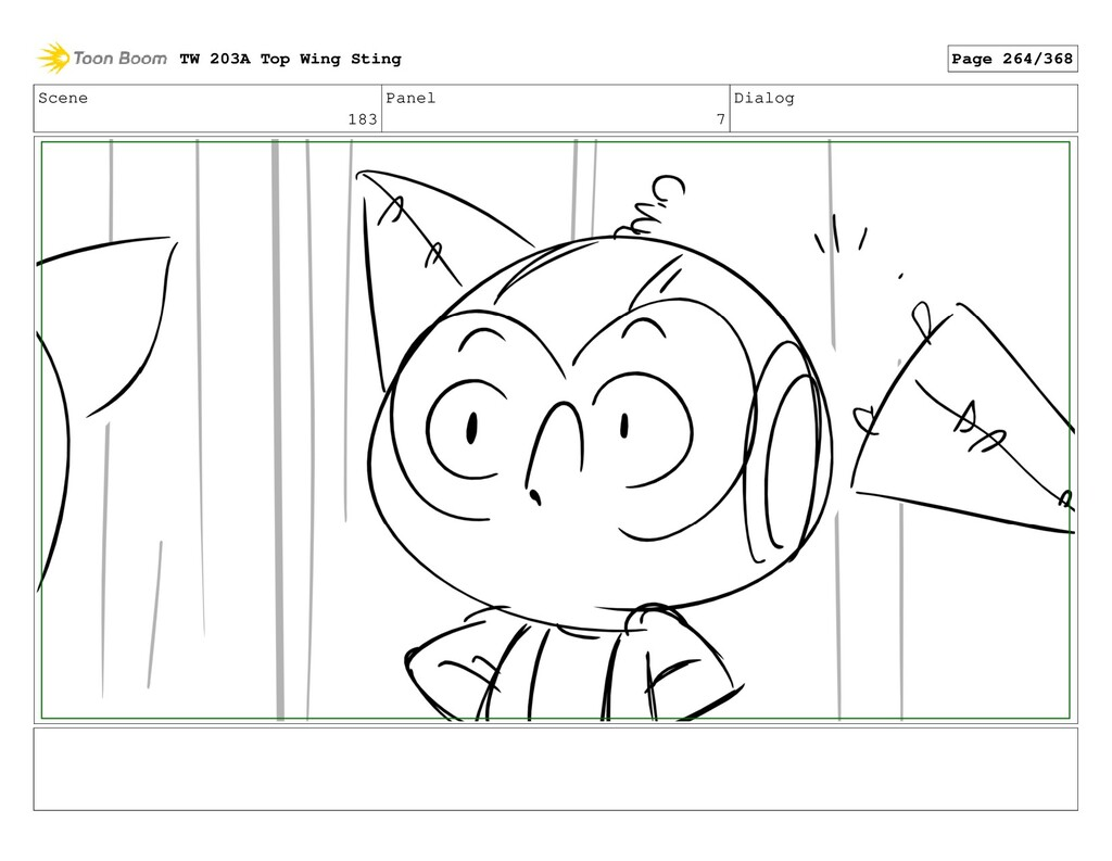 Scene 183 Panel 7 Dialog TW 203A Top Wing Sting...