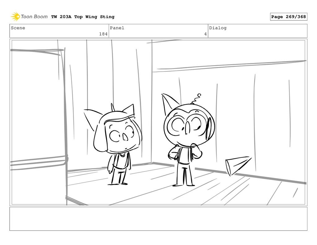 Scene 184 Panel 4 Dialog TW 203A Top Wing Sting...