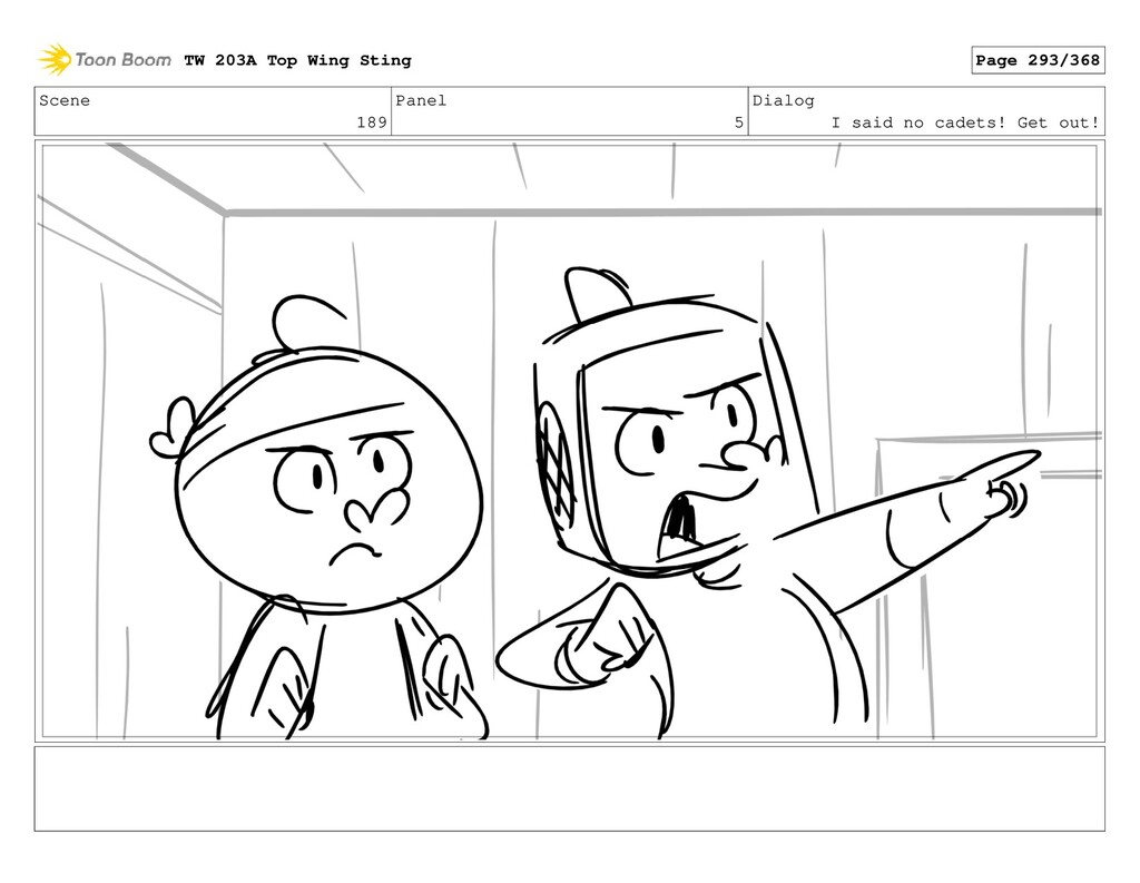 Scene 189 Panel 5 Dialog I said no cadets! Get ...