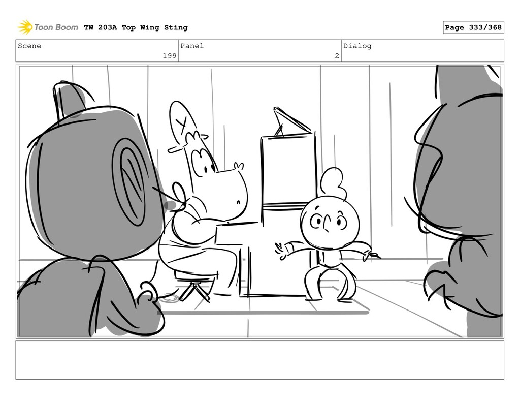 Scene 199 Panel 2 Dialog TW 203A Top Wing Sting...