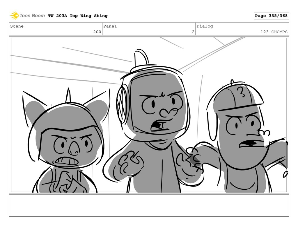 Scene 200 Panel 2 Dialog 123 CHOMPS TW 203A Top...