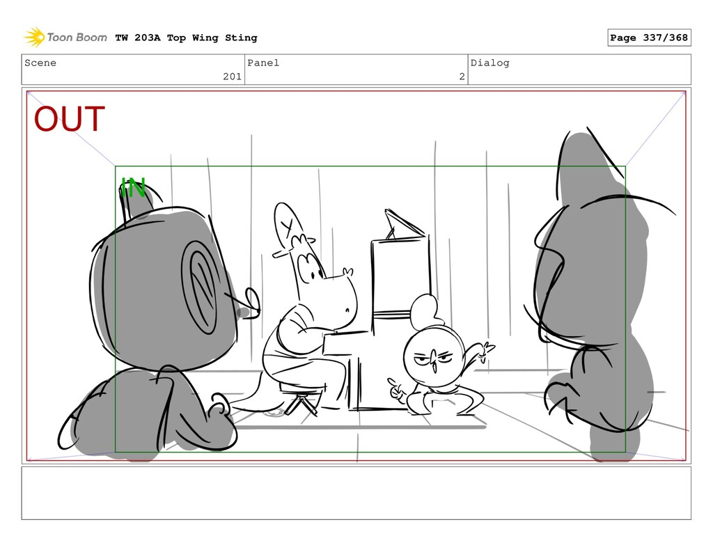 Scene 201 Panel 2 Dialog TW 203A Top Wing Sting...