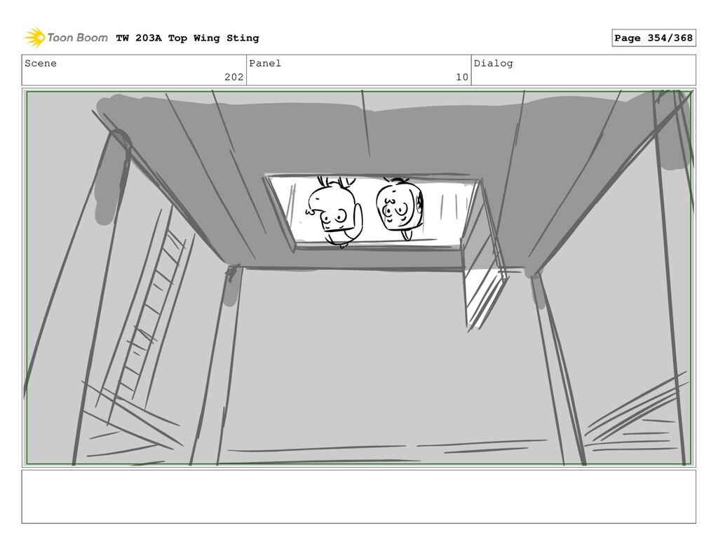 Scene 202 Panel 10 Dialog TW 203A Top Wing Stin...
