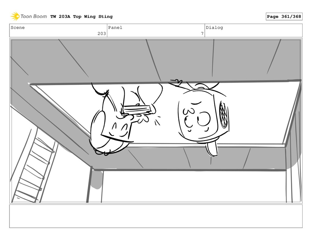Scene 203 Panel 7 Dialog TW 203A Top Wing Sting...