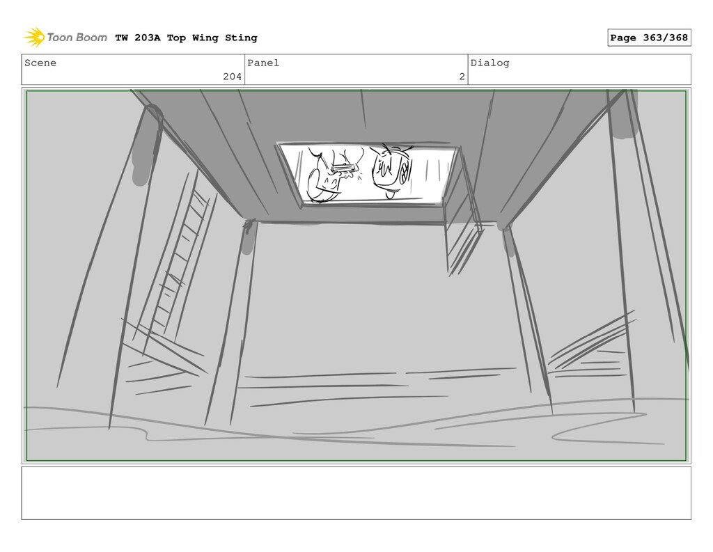 Scene 204 Panel 2 Dialog TW 203A Top Wing Sting...