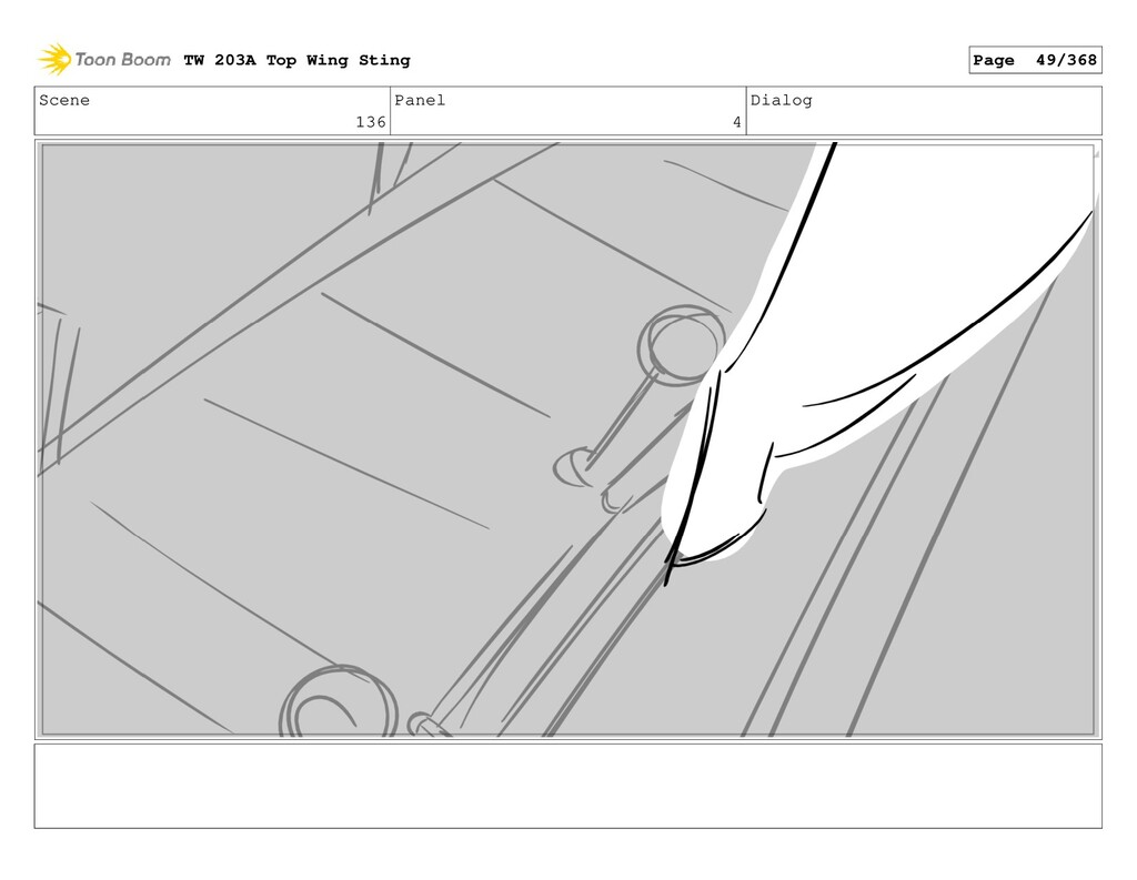 Scene 136 Panel 4 Dialog TW 203A Top Wing Sting...