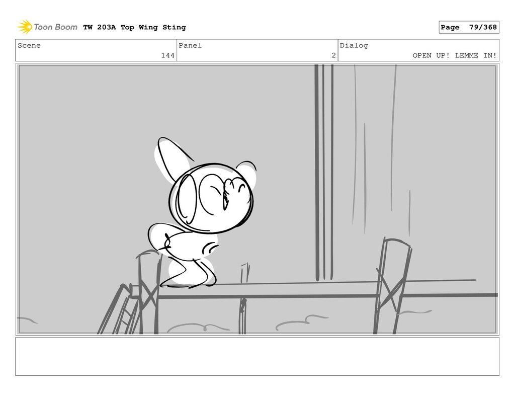 Scene 144 Panel 2 Dialog OPEN UP! LEMME IN! TW ...