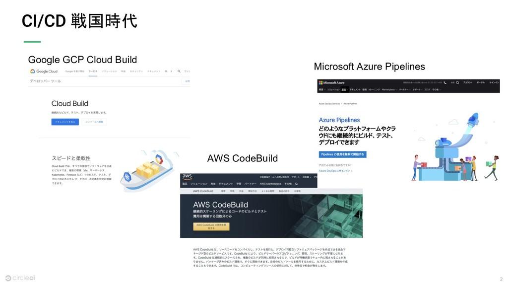 2 戦国時代 Google GCP Cloud Build Microsoft Azure P...
