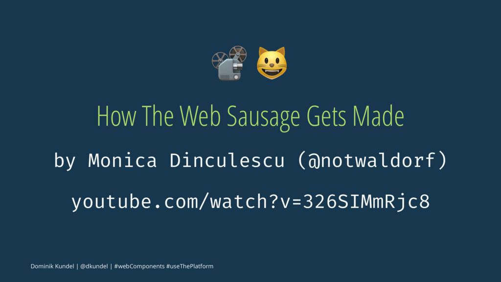 """! """" How The Web Sausage Gets Made by Monica Din..."""