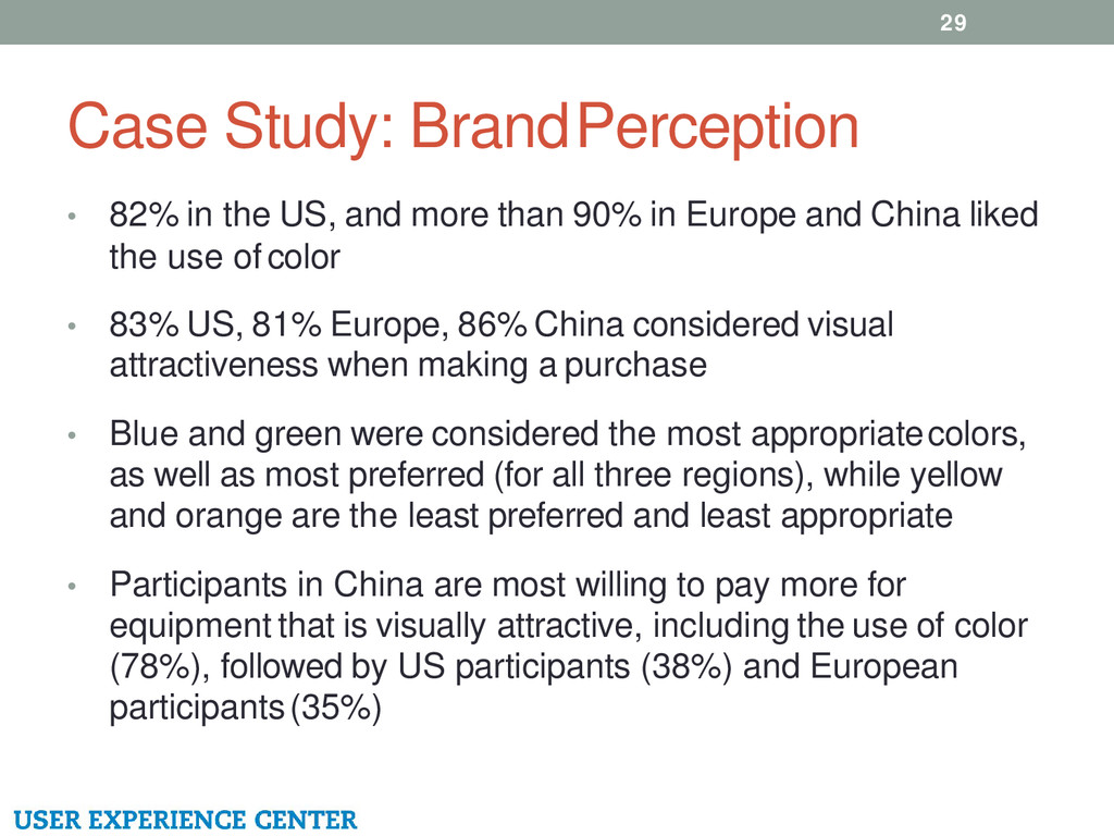 Case Study: Brand Perception • 82% in the US, a...