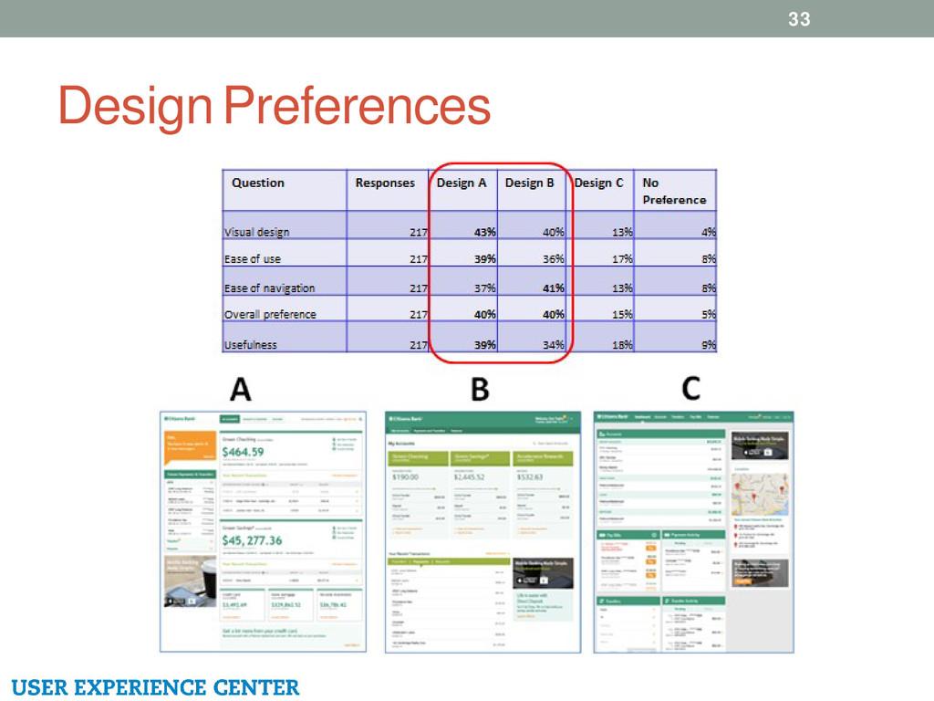 Design Preferences 33