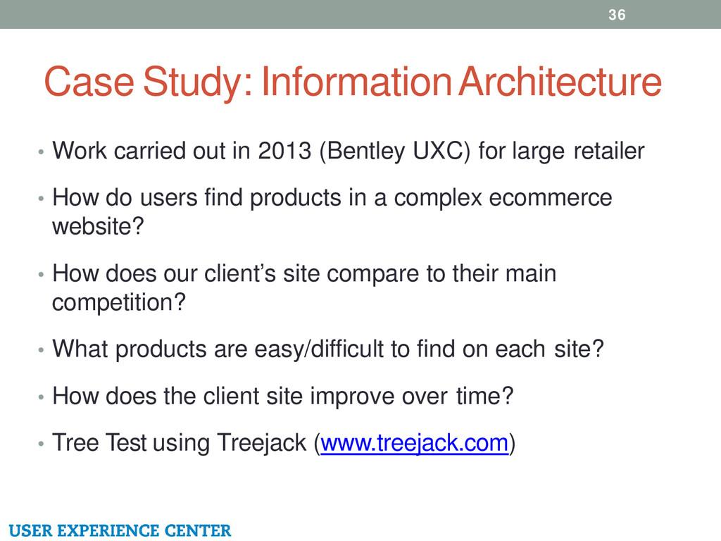 Case Study: Information Architecture • Work car...