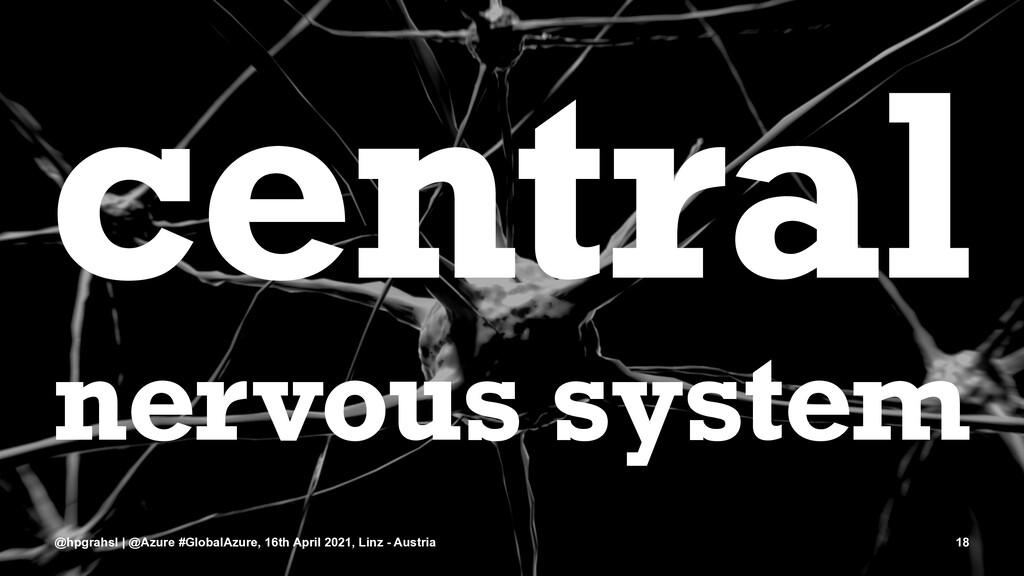 central nervous system @hpgrahsl | @Azure #Glob...
