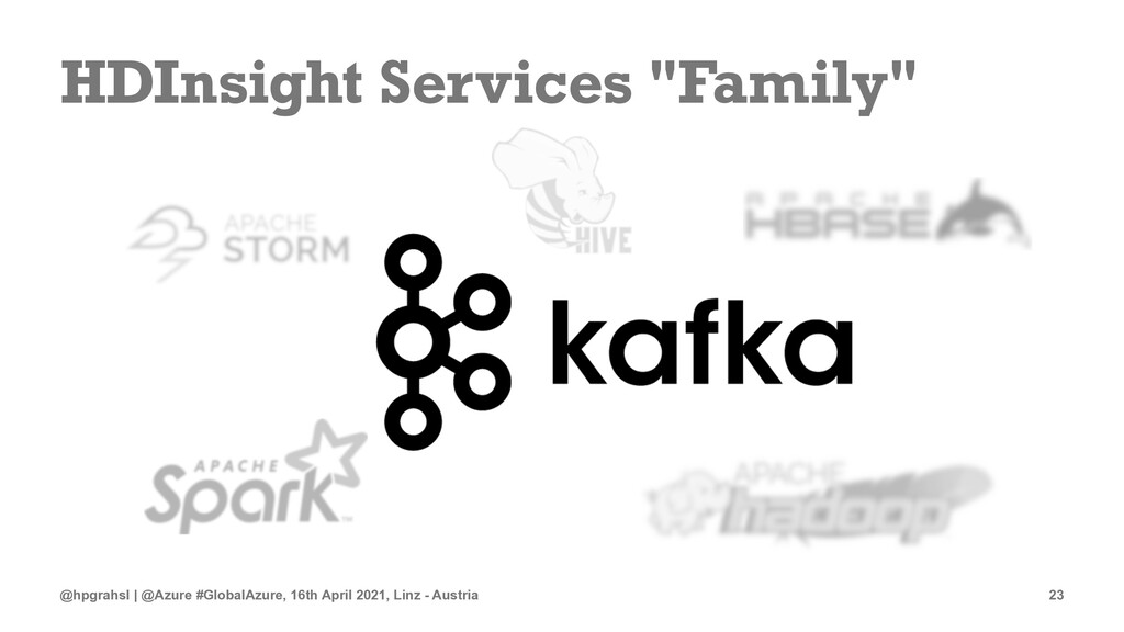 """HDInsight Services """"Family"""" @hpgrahsl 