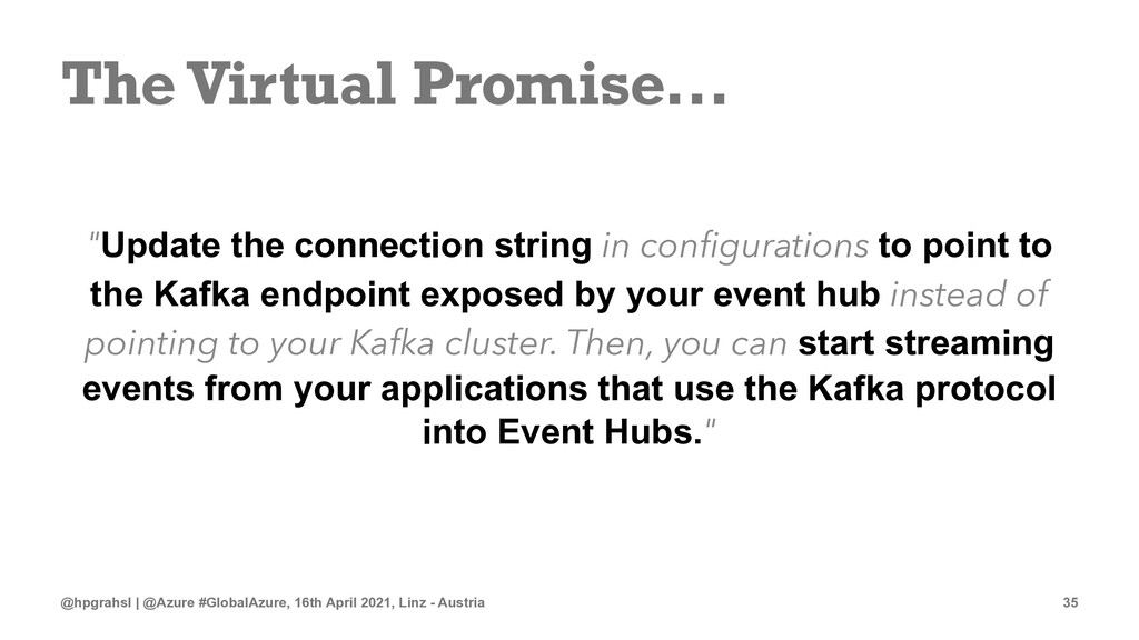 """The Virtual Promise... """"Update the connection s..."""