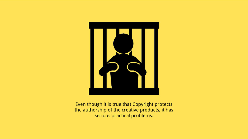 Even though it is true that Copyright protects ...