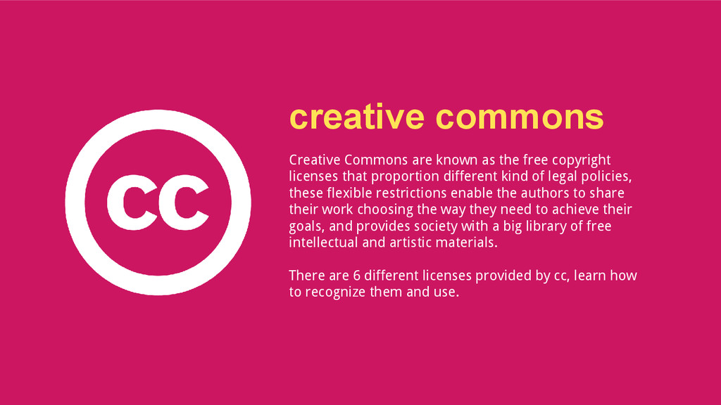 creative commons Creative Commons are known as ...