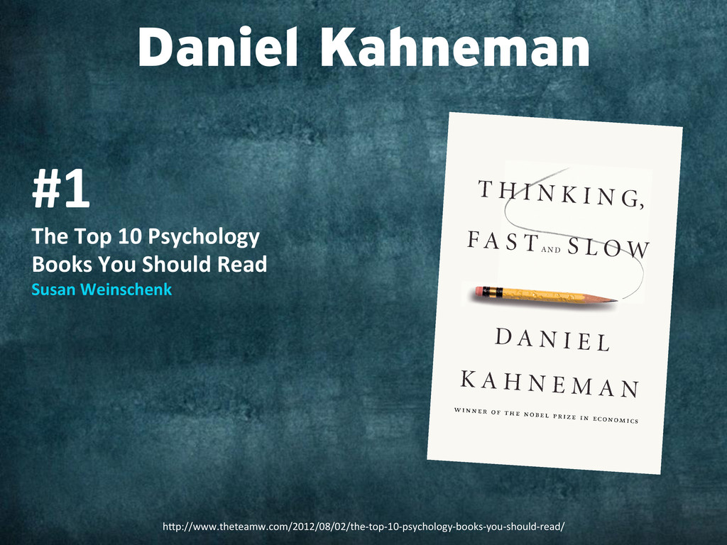 Daniel Kahneman #1  The Top 10 Psyc...