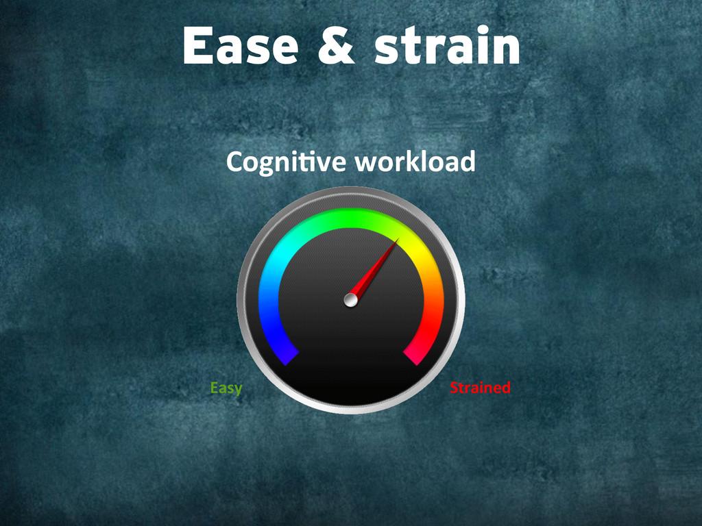 Ease & strain Cogni,ve workload  Easy ...