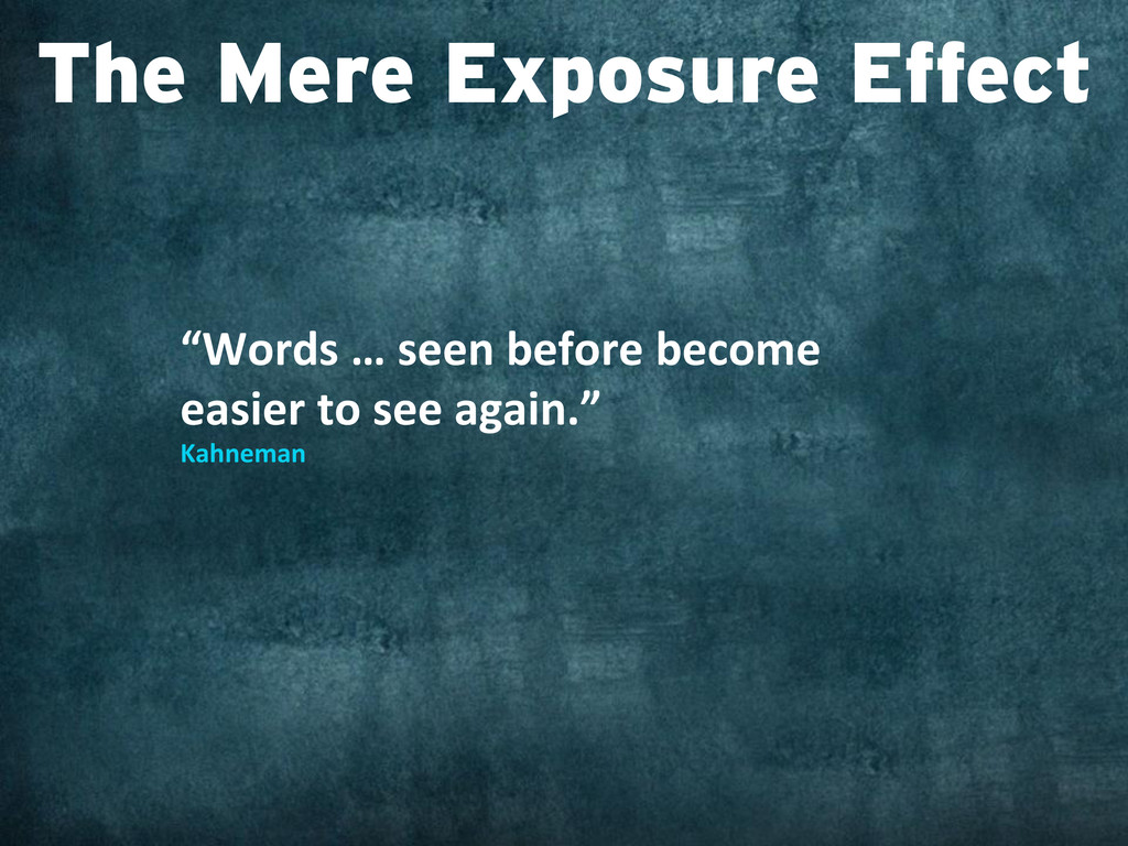 """""""Words … seen before become  eas..."""