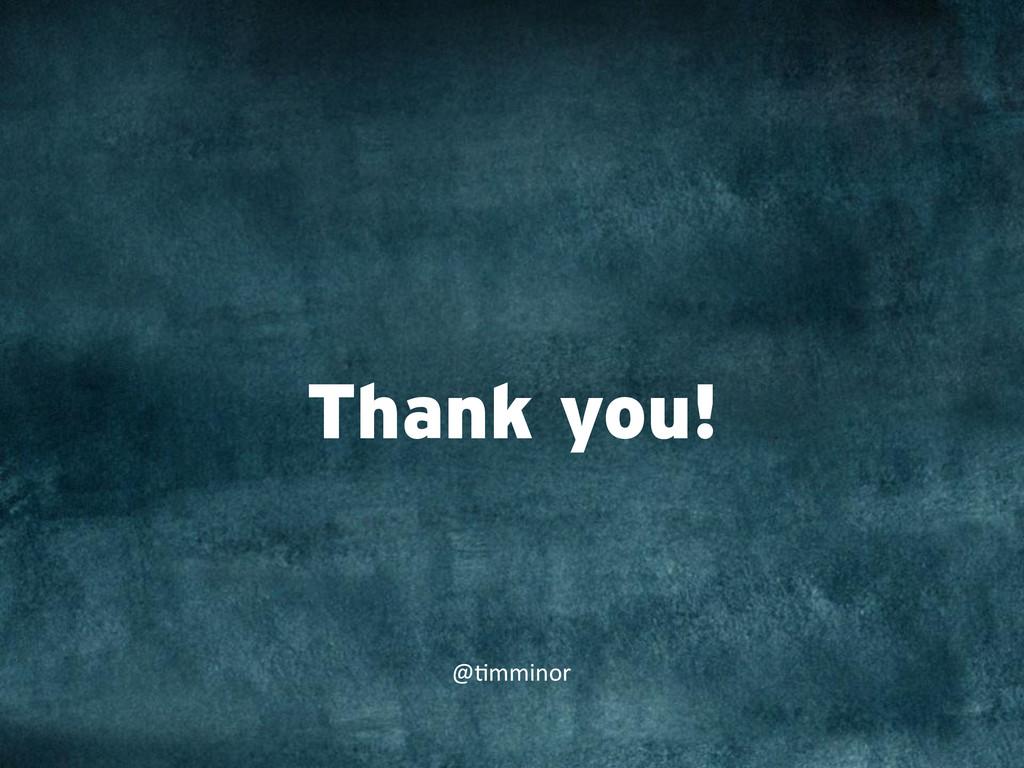 "Thank you! @""mminor"