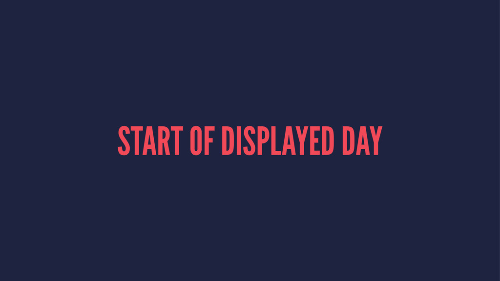 START OF DISPLAYED DAY