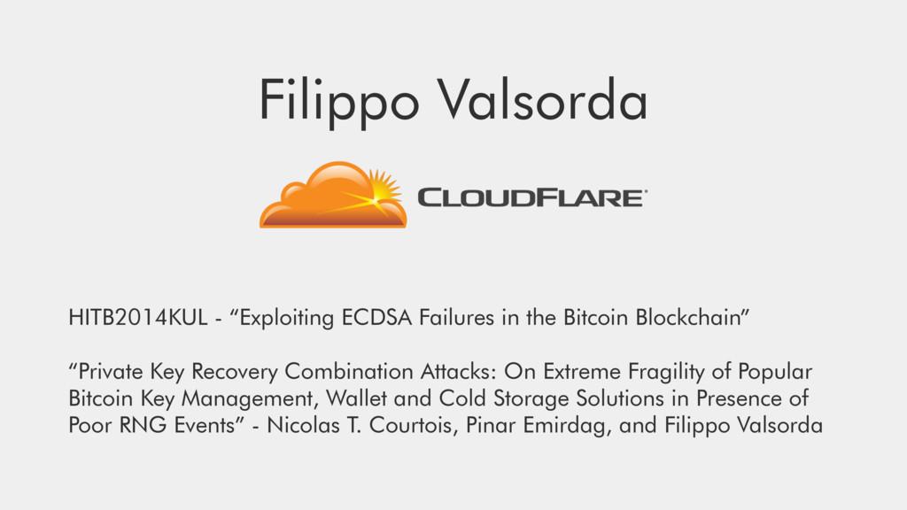 """Filippo Valsorda HITB2014KUL - """"Exploiting ECDS..."""