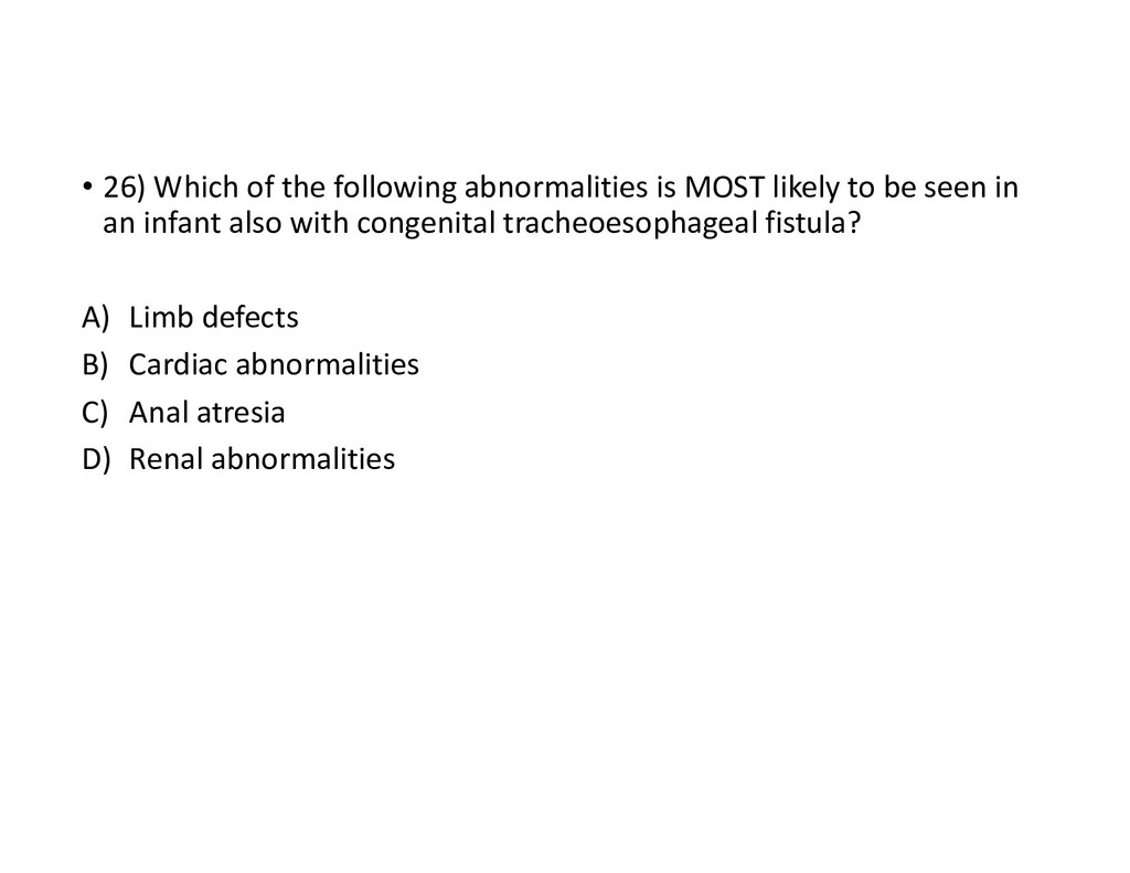 • 26) Which of the following abnormalities is M...