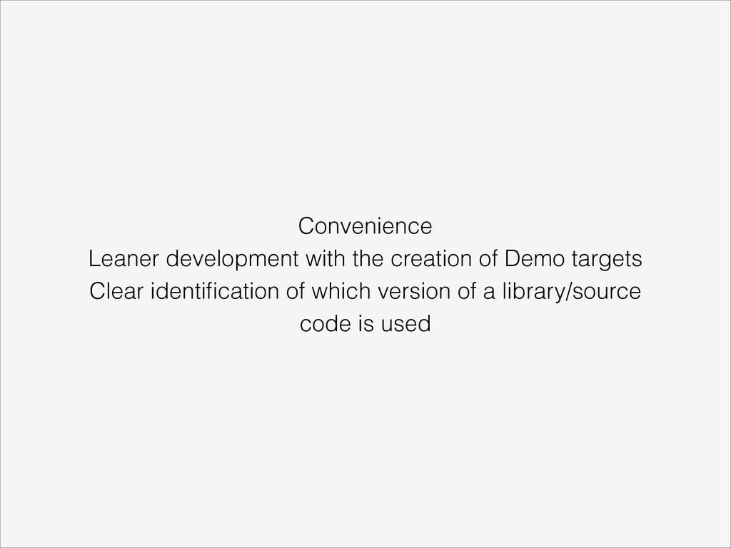 Convenience Leaner development with the creatio...