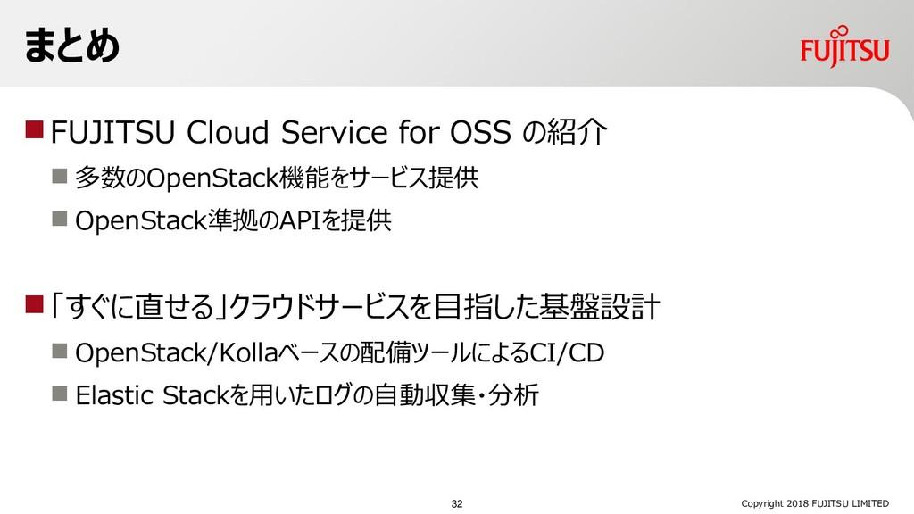FUJITSU Cloud Service for OSS の紹介  多数のOpenSta...