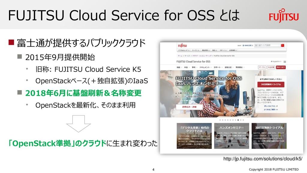 FUJITSU Cloud Service for OSS とは  富士通が提供するパブリッ...