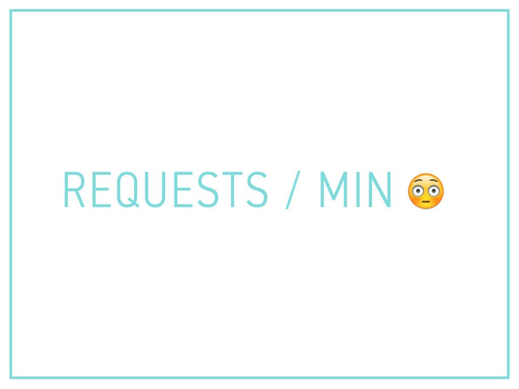 REQUESTS / MIN