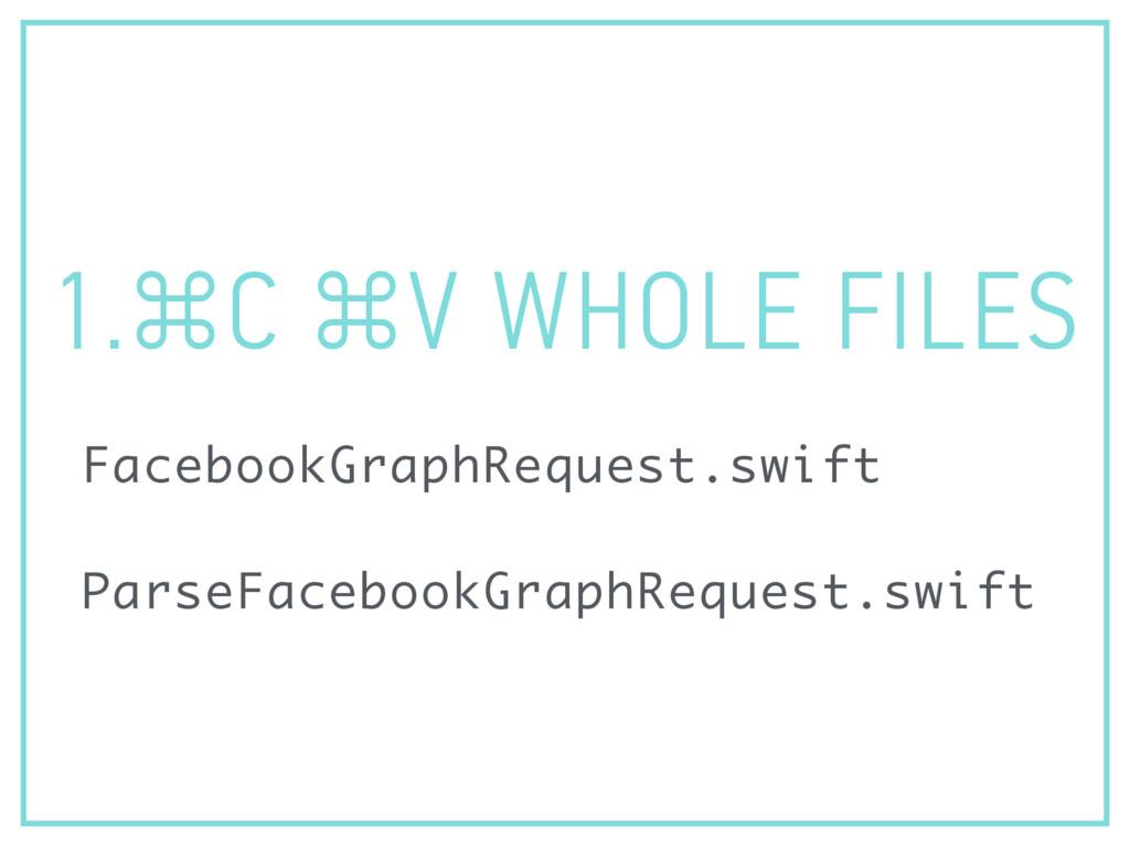 1.⌘C ⌘V WHOLE FILES FacebookGraphRequest.swift ...
