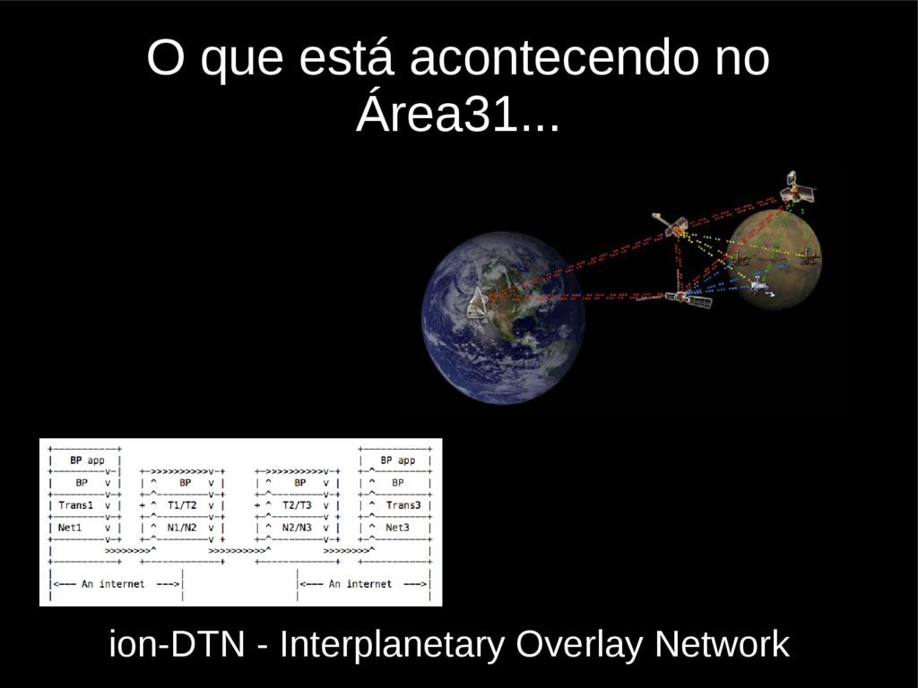 O que está acontecendo no Área31... ion-DTN - I...