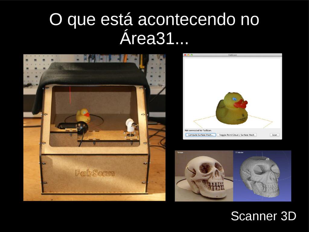 O que está acontecendo no Área31... Scanner 3D